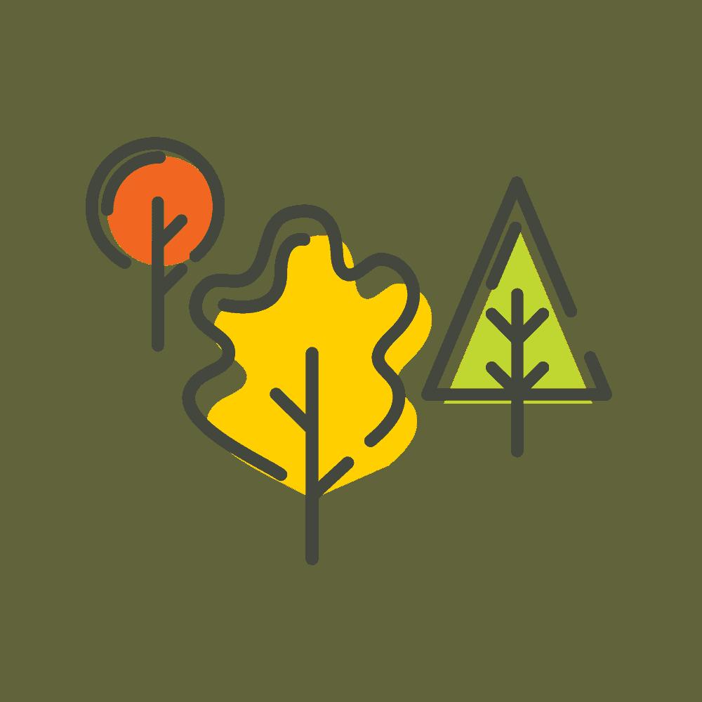 Trees Fall Icon